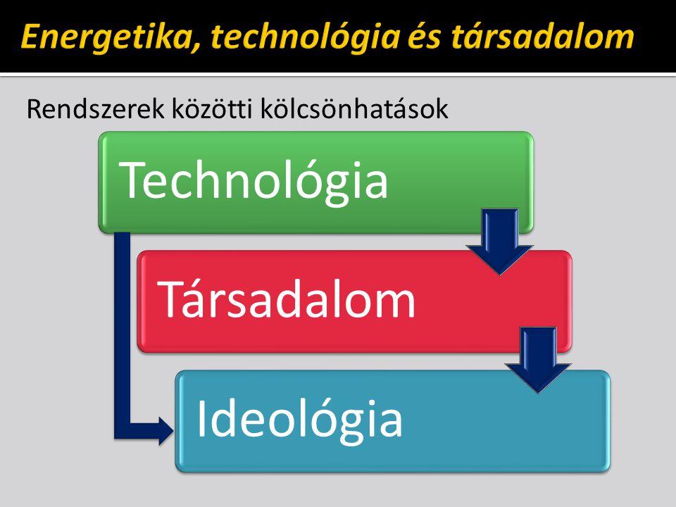 Rendszerek közötti kölcsönhatások TechnológiaTársadalomIdeológia