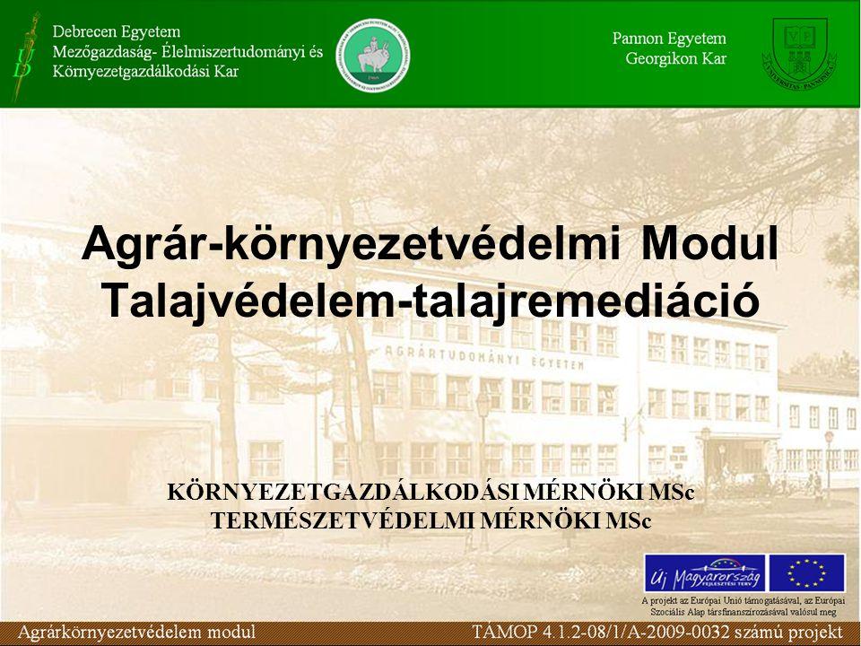 Felszín alatti vizek és földtani közegek határérték rendszere Magyarországon 50.lecke