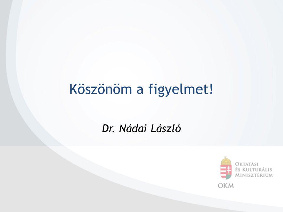 Köszönöm a figyelmet! Dr. Nádai László