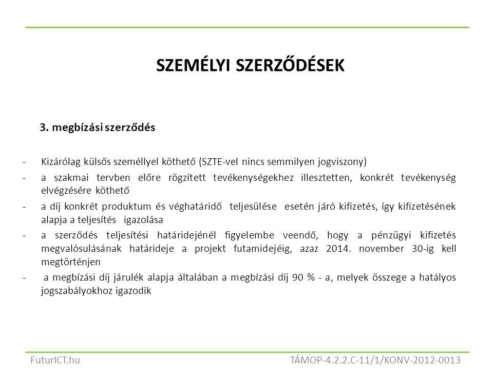SZEMÉLYI SZERZŐDÉSEK 3.