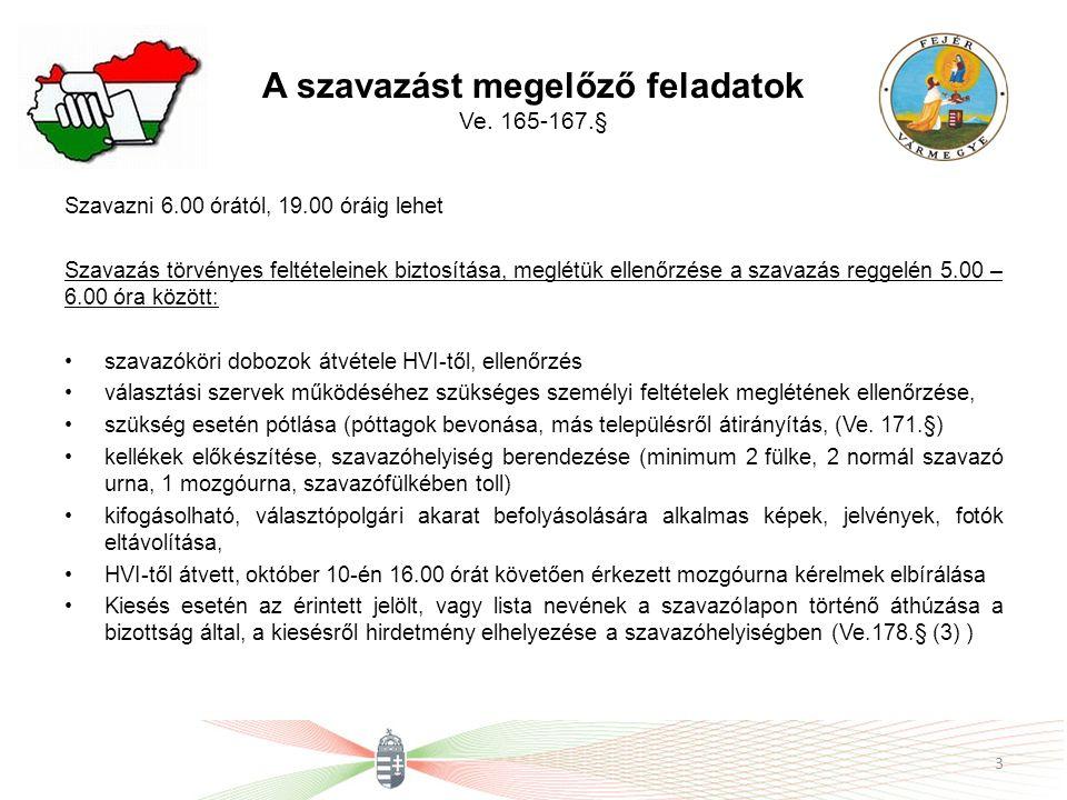 A szavazatszámláló bizottság működése a választás napján Választott és delegált tagokból áll (delegálás választókerületi elv alapján, 09.26.