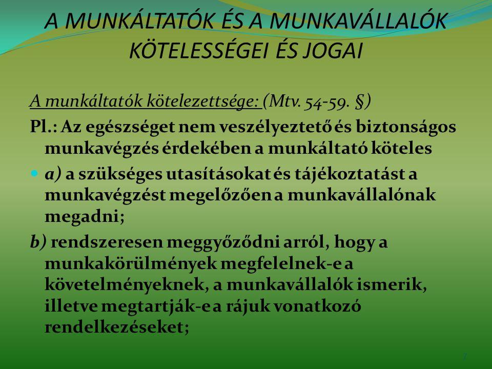 Munkavédelmi képviselő választás A munkavédelmi képviselők megválasztásának, megbízatása megszűnésének, visszahívásának rendjére, működési területére a Munka Törvénykönyvéről szóló 2012.