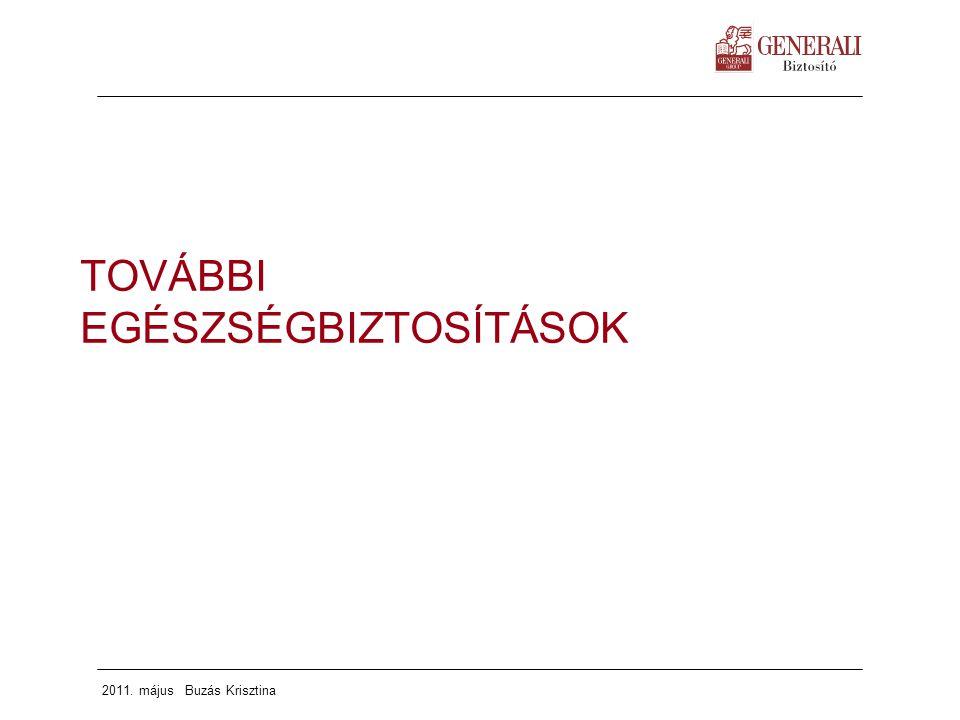 2011. május Buzás Krisztina TOVÁBBI EGÉSZSÉGBIZTOSÍTÁSOK