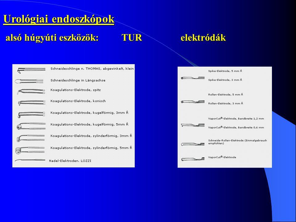 Urológiai endoszkópok alsó húgyúti eszközök:TUR elektródák