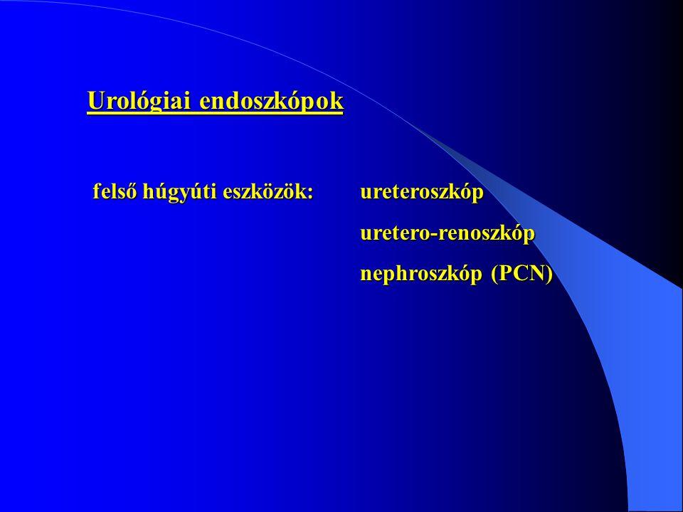Urológiai endoszkópok felső húgyúti eszközök:ureteroszkóp uretero-renoszkóp nephroszkóp (PCN)