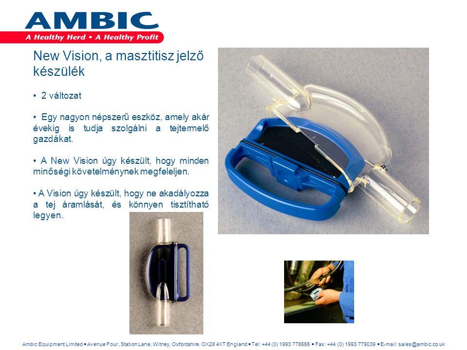 New Vision, a masztitisz jelző készülék 2 változat Egy nagyon népszerű eszköz, amely akár évekig is tudja szolgálni a tejtermelő gazdákat. A New Visio