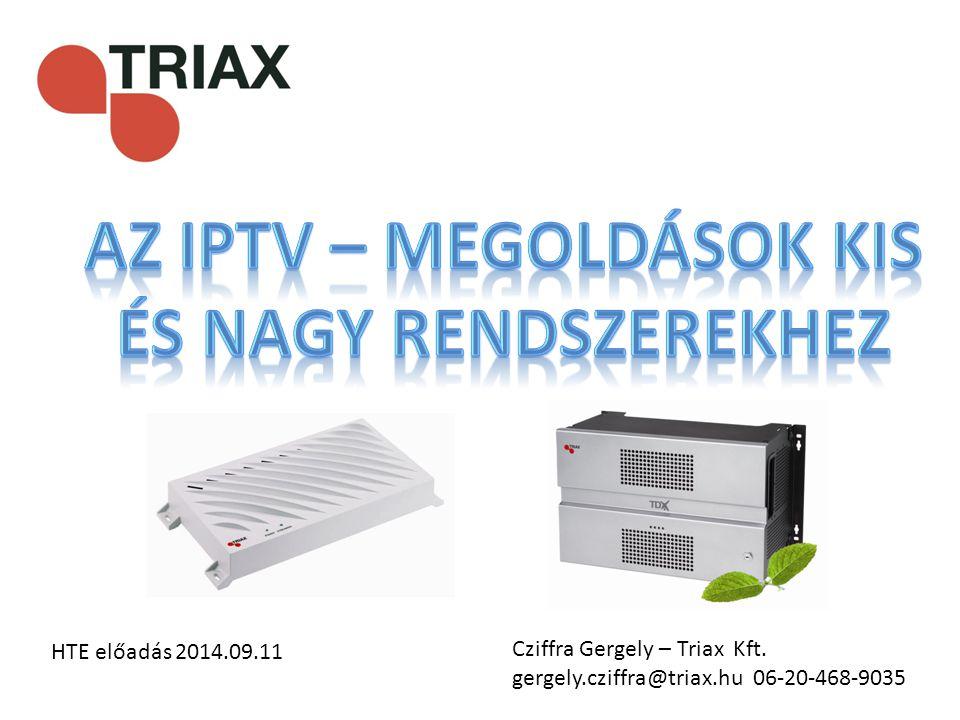Cziffra Gergely – Triax Kft. gergely.cziffra@triax.hu 06-20-468-9035 HTE előadás 2014.09.11