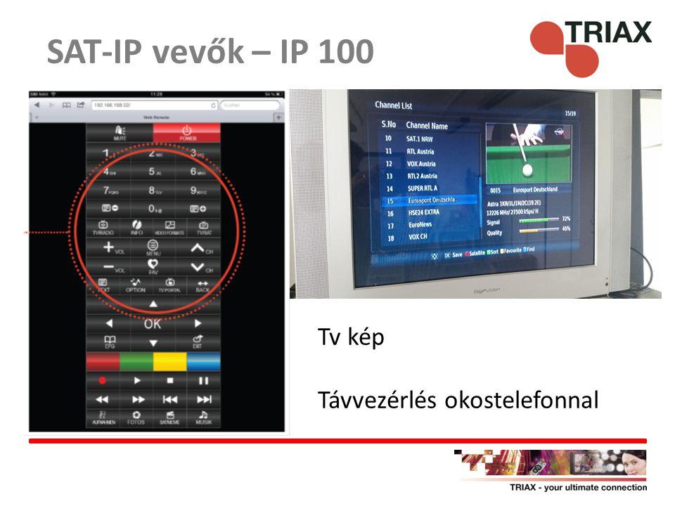Tv kép Távvezérlés okostelefonnal