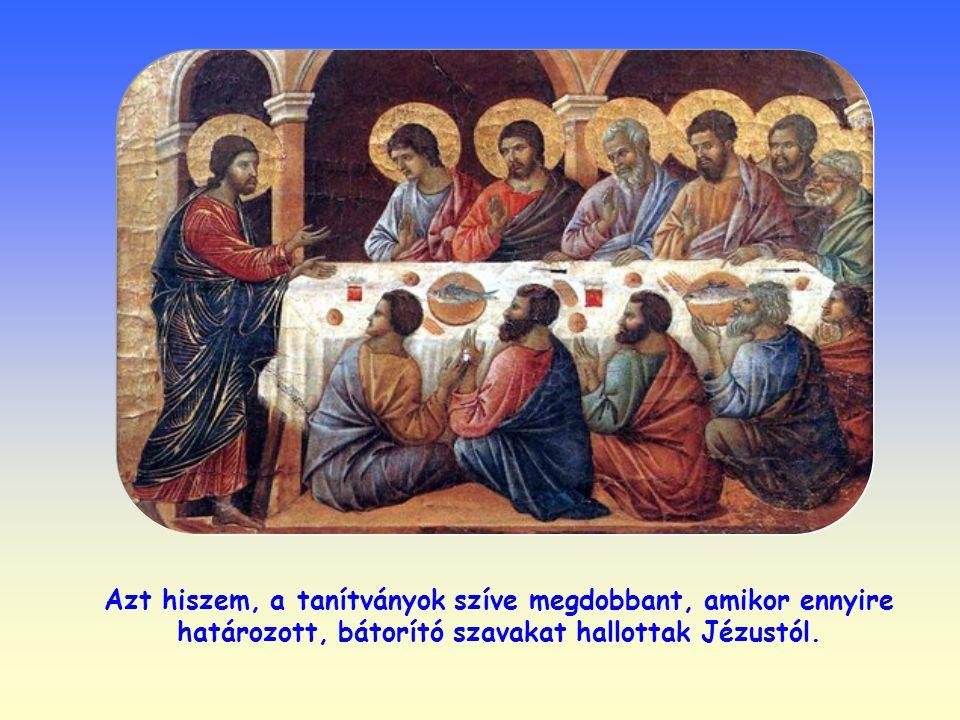 Azt hiszem, a tanítványok szíve megdobbant, amikor ennyire határozott, bátorító szavakat hallottak Jézustól.