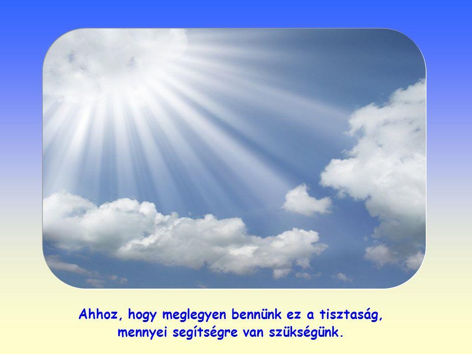 Ahhoz, hogy meglegyen bennünk ez a tisztaság, mennyei segítségre van szükségünk.