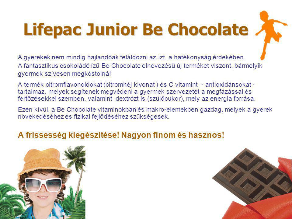 Lifepac Junior Вe Сhocolate A gyerekek nem mindig hajlandóak feláldozni az ízt, a hatékonyság érdekében.