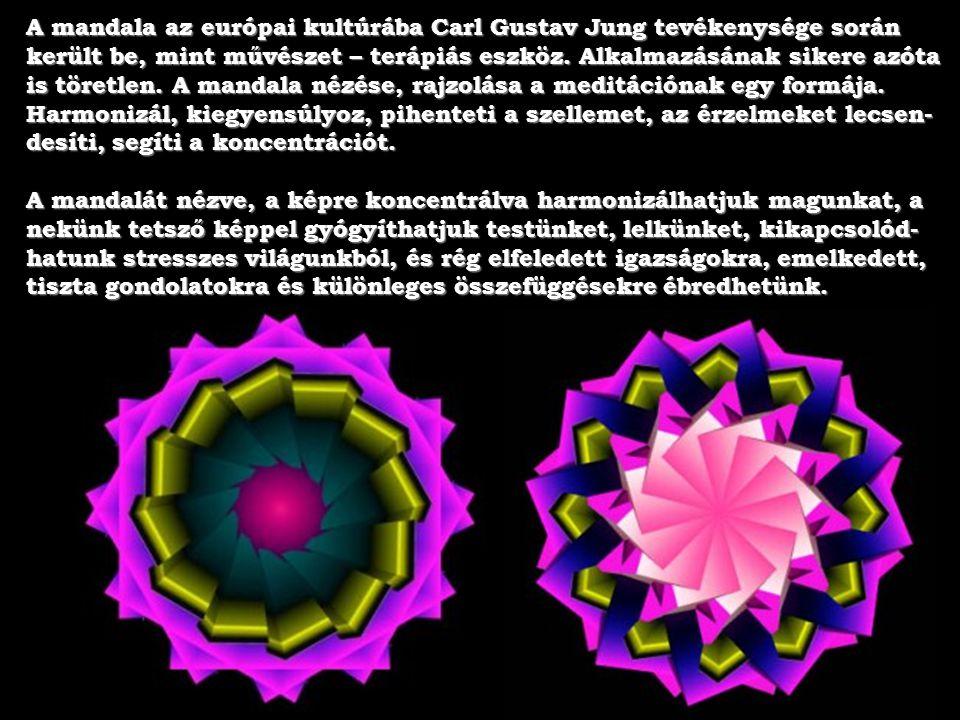 A mandala szó az ősi indiai szent nyelvből, a szanszkrítből származik. Jelentése: kör, ív, körszelet, korong. A mandala egy kör alakú területet jelent