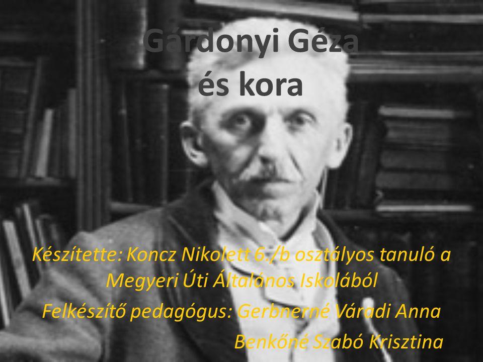 Gyermekei Gárdonyi Gézának és Csányi Máriának 4 gyermeke született.