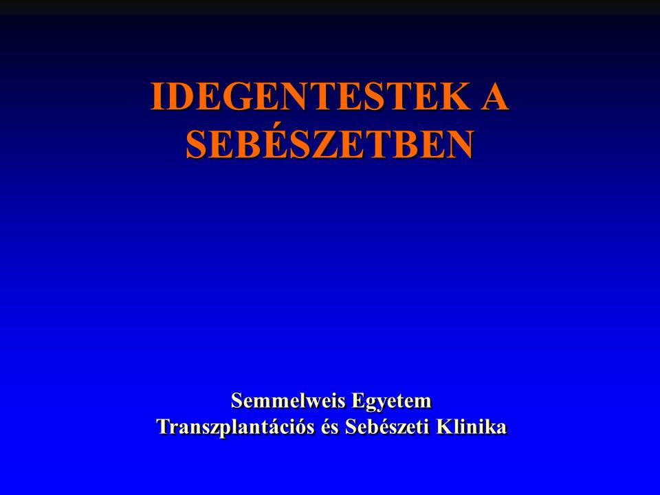 IDEGENTESTEK A SEBÉSZETBEN Semmelweis Egyetem Transzplantációs és Sebészeti Klinika