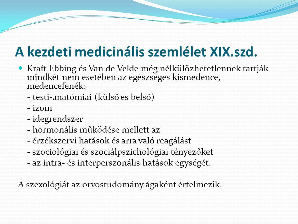 A kezdeti medicinális szemlélet XIX.szd.