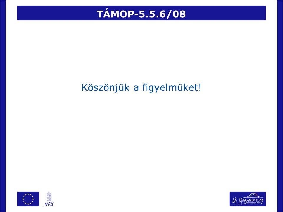TÁMOP-5.5.6/08 Köszönjük a figyelmüket!