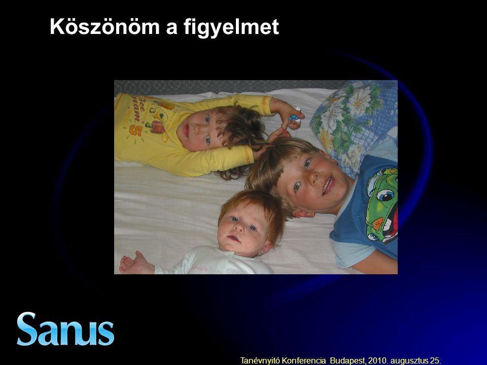 Tanévnyitó Konferencia Budapest, 2010. augusztus 25. Köszönöm a figyelmet