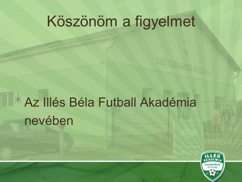 Köszönöm a figyelmet Az Illés Béla Futball Akadémia nevében