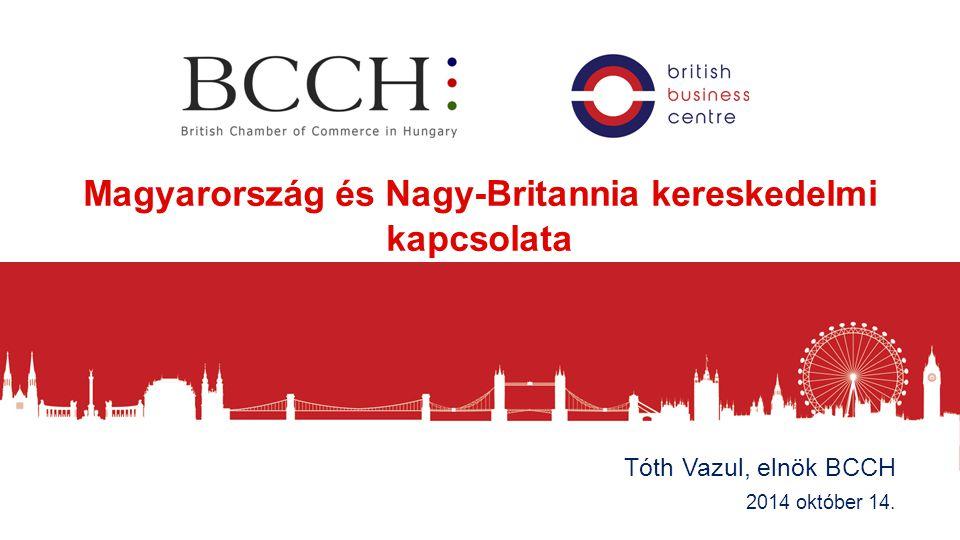 Magyarország és Nagy-Britannia kereskedelmi kapcsolata – rövid áttekintés Tóth Vazul, elnök BCCH 2014 október 14.