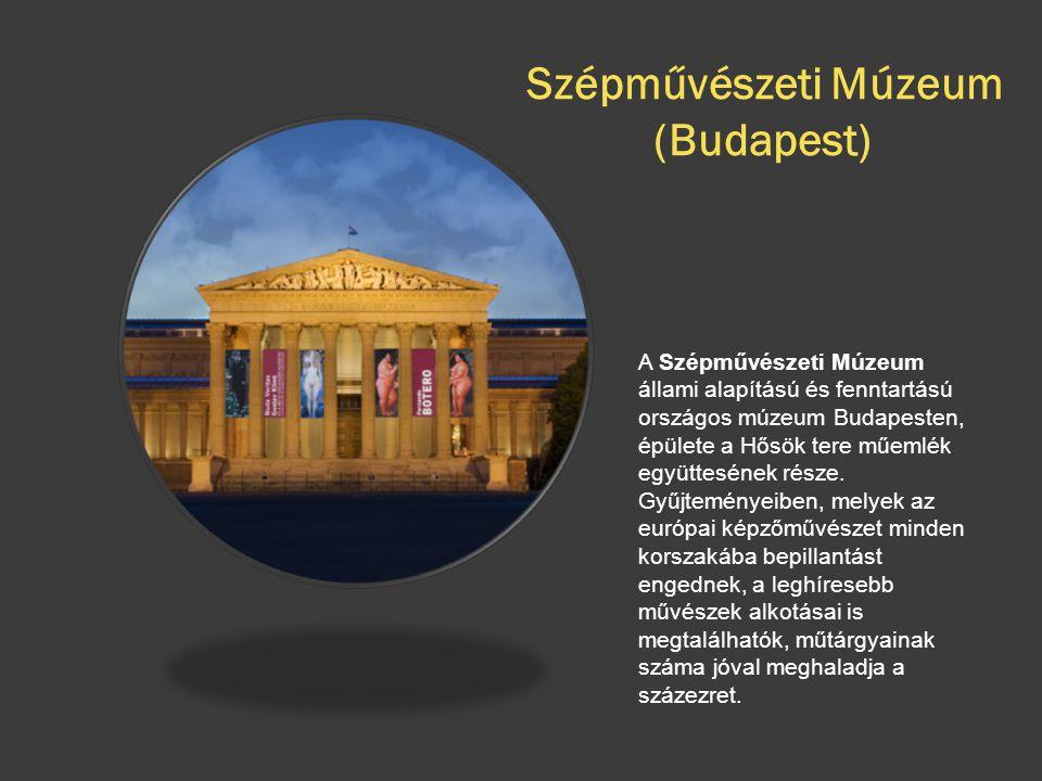 Szépművészeti Múzeum (Budapest) A Szépművészeti Múzeum állami alapítású és fenntartású országos múzeum Budapesten, épülete a Hősök tere műemlék együtt
