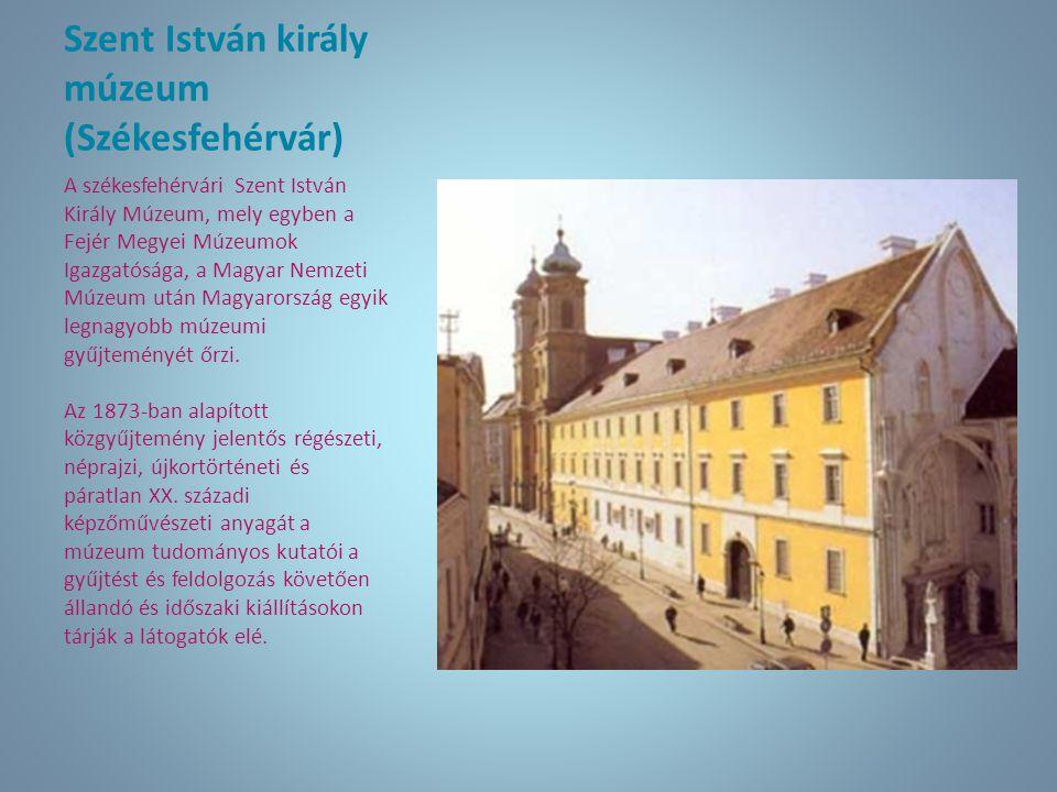 Szent István király múzeum (Székesfehérvár) A székesfehérvári Szent István Király Múzeum, mely egyben a Fejér Megyei Múzeumok Igazgatósága, a Magyar N