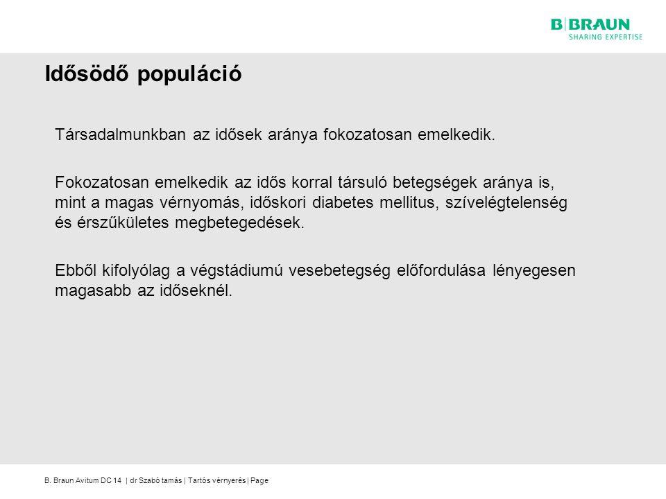 B. Braun Avitum DC 14 | dr Szabó tamás | Tartós vérnyerés | Page Idősödő populáció Társadalmunkban az idősek aránya fokozatosan emelkedik. Fokozatosan
