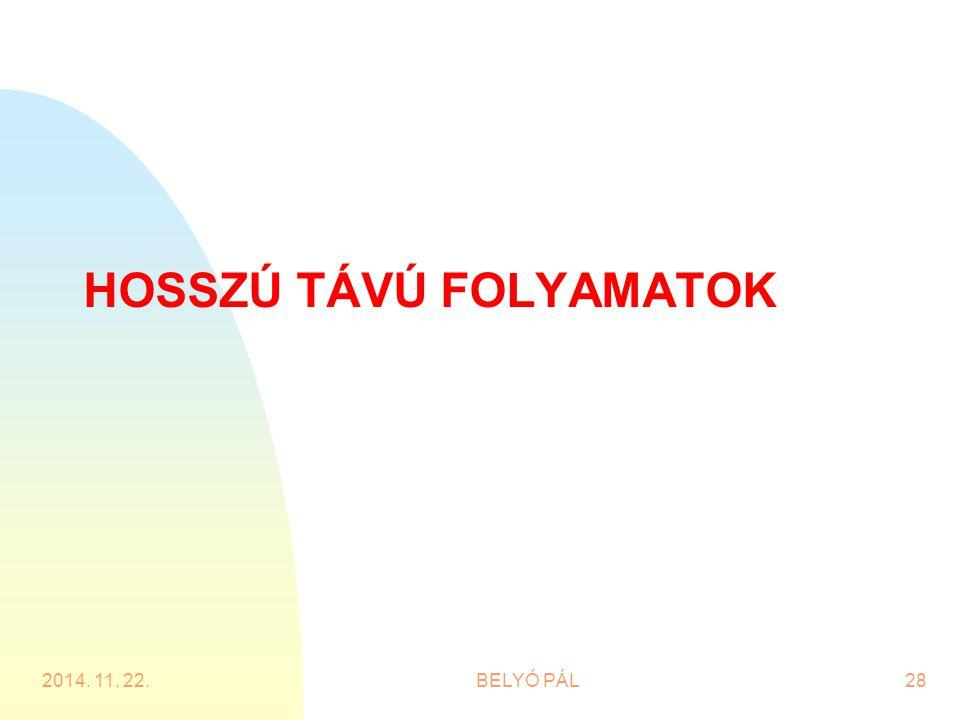 HOSSZÚ TÁVÚ FOLYAMATOK 2014. 11. 22.BELYÓ PÁL28
