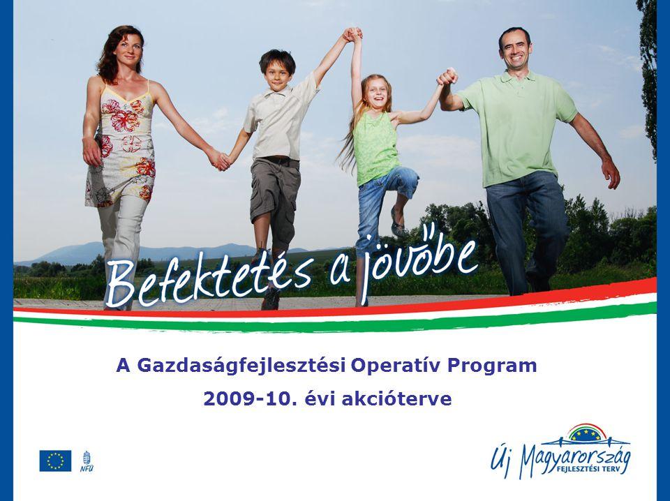 A Gazdaságfejlesztési Operatív Program 2009-10. évi akcióterve