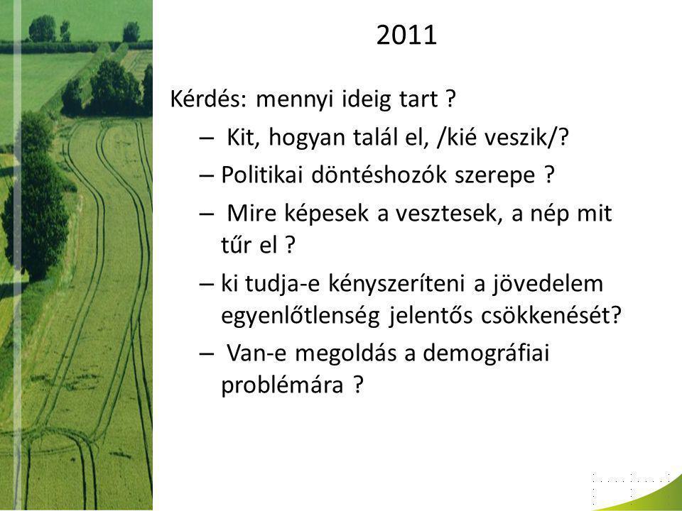 2011 Kérdés: mennyi ideig tart . – Kit, hogyan talál el, /kié veszik/.