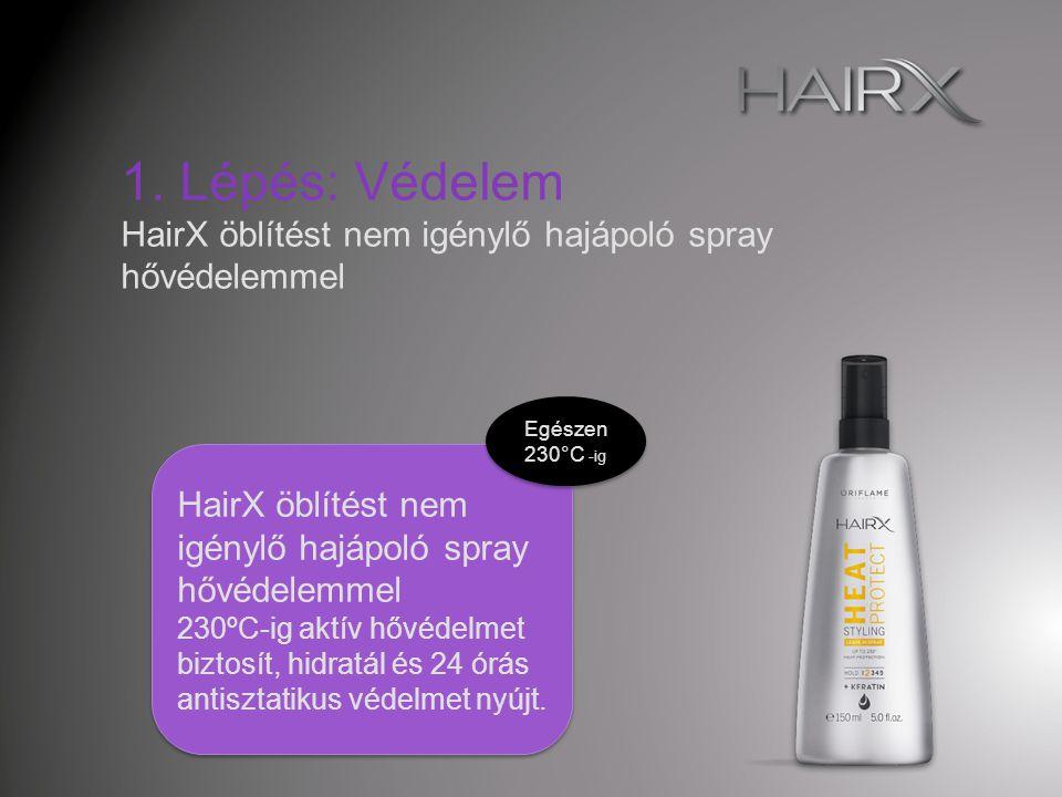 A HairX hajkisimító és - formázó krém megakadályozza, hogy a levegő pára- tartalmának hatására begöndörödjön a haj – így a haj sima, fényes és selymes hatású lesz.