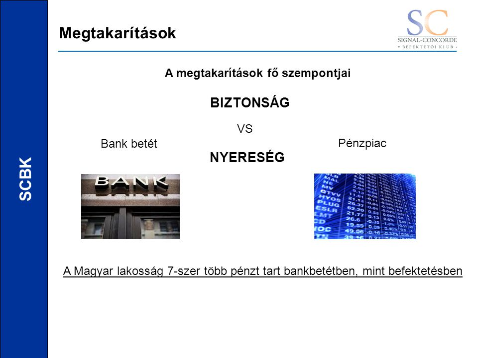 SCBK Miért.Mert biztonságos Mert nyereséget ígér Mert likvid Államcsőd vagy bankcsőd.