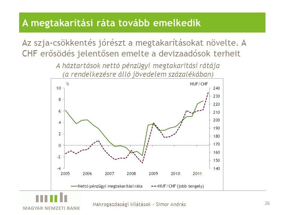 Az szja-csökkentés jórészt a megtakarításokat növelte.