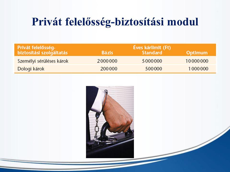 Privát felelősség-biztosítási modul