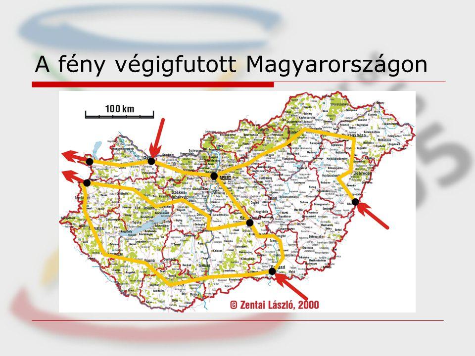 A fény végigfutott Magyarországon