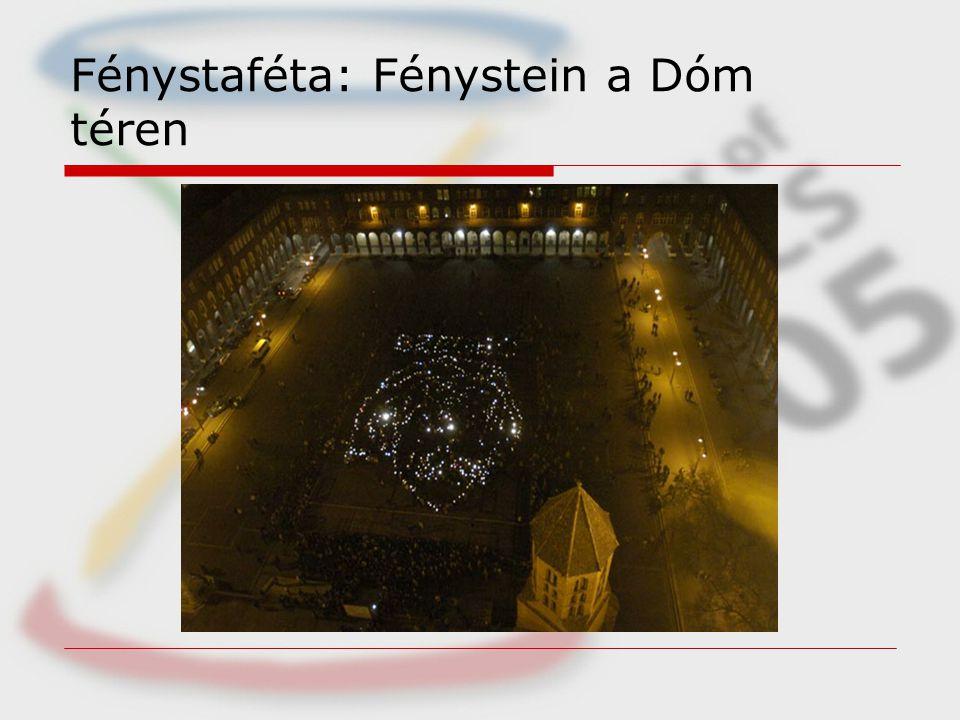 Fénystaféta: Fénystein a Dóm téren