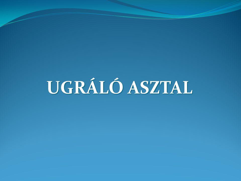 UGRÁLÓ ASZTAL