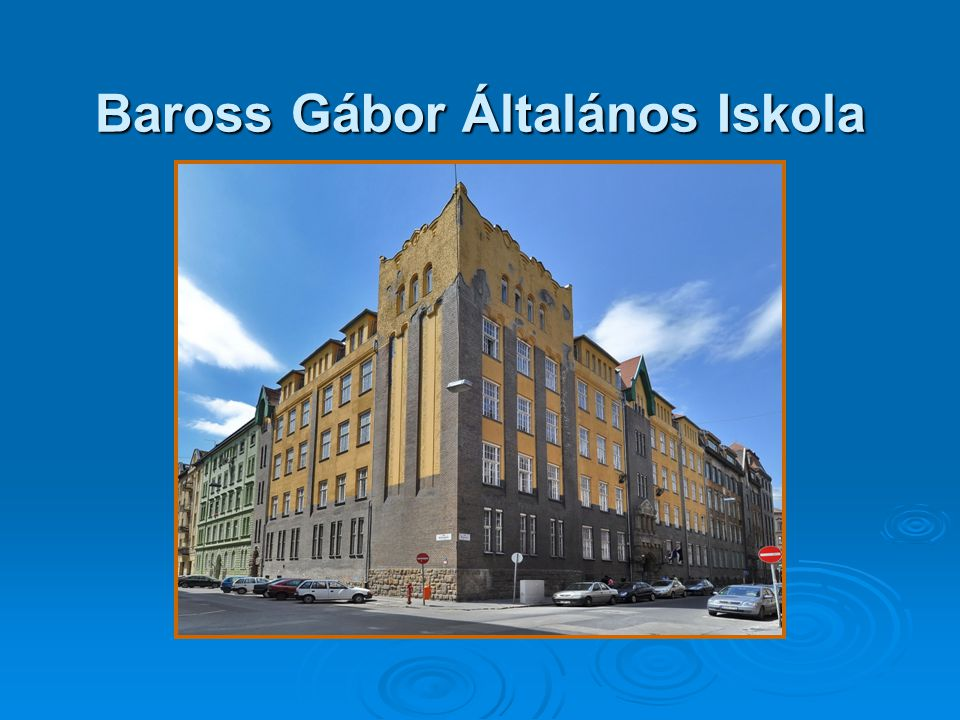 Baross Gábor Általános Iskola
