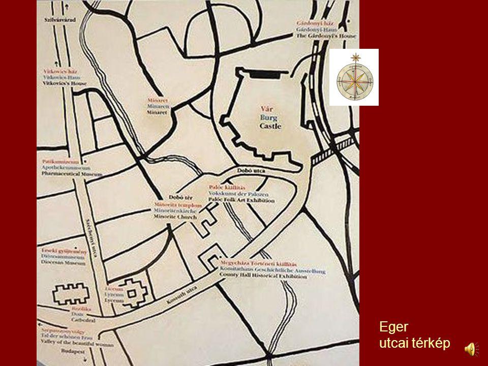 Eger utcai térkép