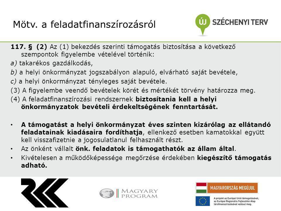 117. § (2) Az (1) bekezdés szerinti támogatás biztosítása a következő szempontok figyelembe vételével történik: a) takarékos gazdálkodás, b) a helyi ö