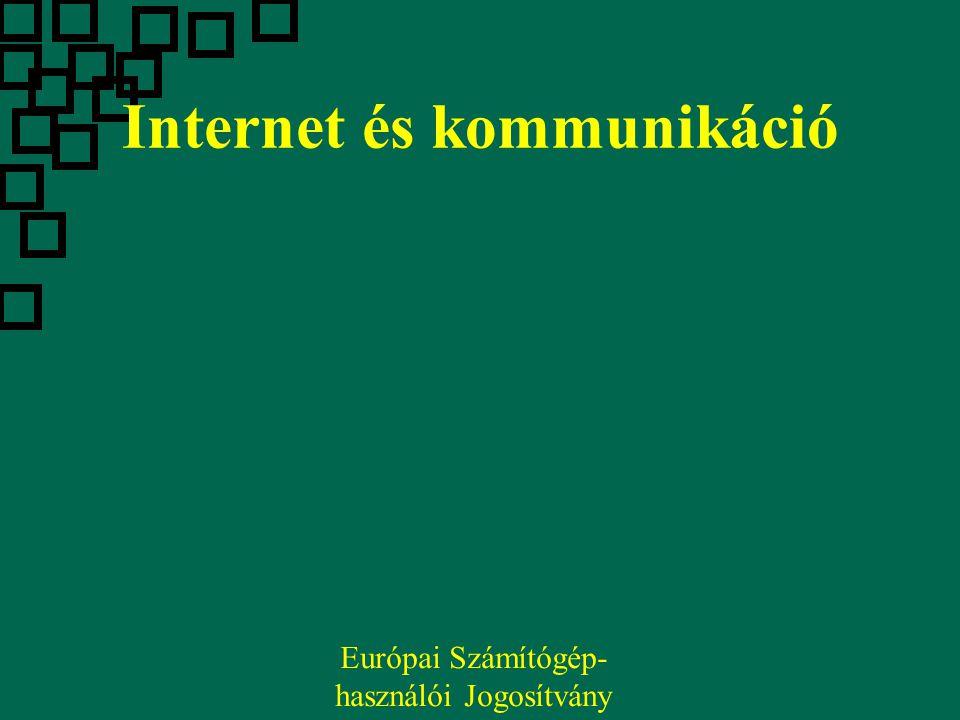 Internet és kommunikáció Európai Számítógép- használói Jogosítvány