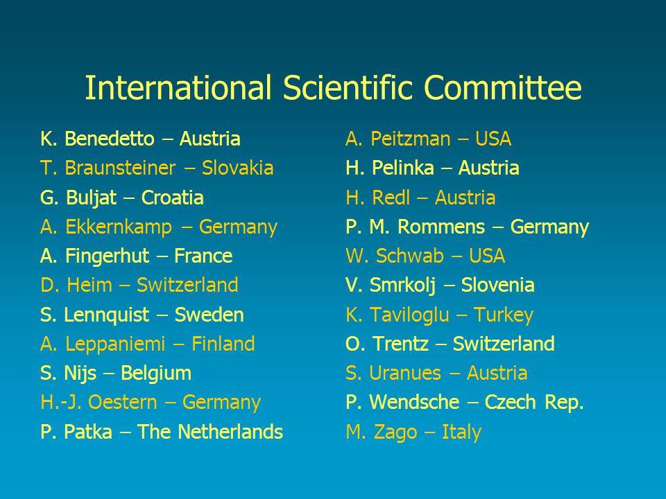 International Scientific Committee K.Benedetto – Austria T.
