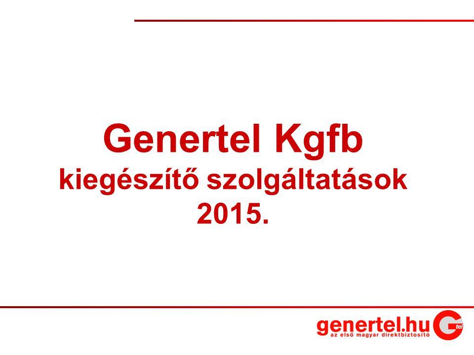 1 Genertel Kgfb kiegészítő szolgáltatások 2015.