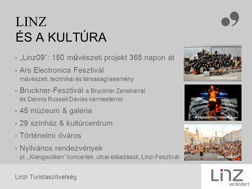 Linzi Turistaszövetség LINZ ÉS A TERMÉSZET Ausztria harmadik legnagyobb városában páratlan az életminőség, a felszín 61,79 %-át zöld növényzet, erdő borítja (Statistik Austria 2005 ) a levegő, Linz a második legtisztább osztrák város szabadtéri élményvilágok pl.