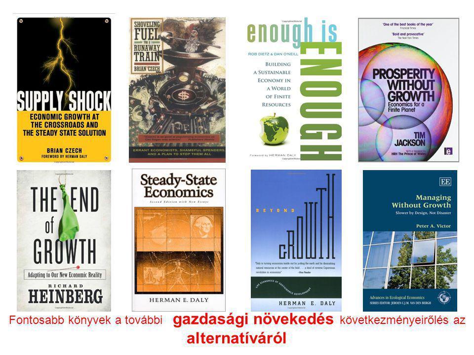 Fontosabb könyvek a további gazdasági növekedés következményeirőlés az alternatíváról