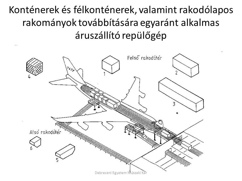 Konténerek és félkonténerek, valamint rakodólapos rakományok továbbítására egyaránt alkalmas áruszállító repülőgép Debreceni Egyetem Műszaki Kar
