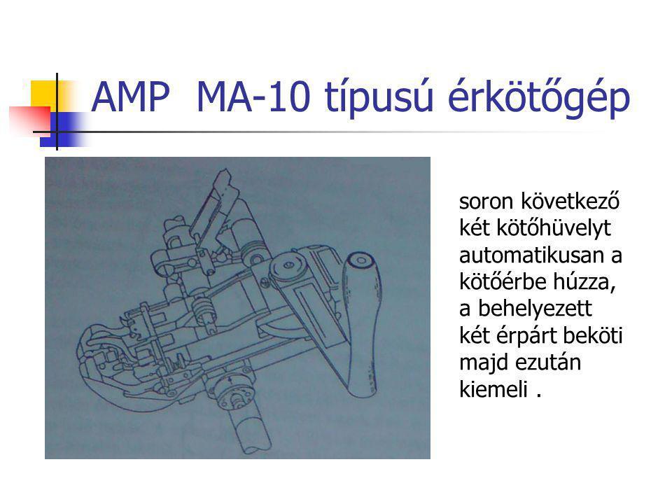 Nagyegységű kábelek kötése 3M gyártású MS érkötési rendszer Egyszerre akár 10,20,25 érpár bekötése 2 Kábel erek befűzése Kötőfejre csatlakoztatott présfej