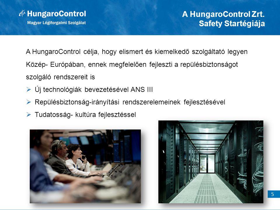 A HungaroControl Zrt. Safety Startégiája A HungaroControl célja, hogy elismert és kiemelkedő szolgáltató legyen Közép- Európában, ennek megfelelően fe