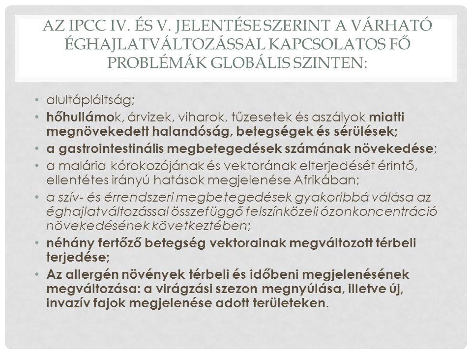 AZ IPCC IV. ÉS V.