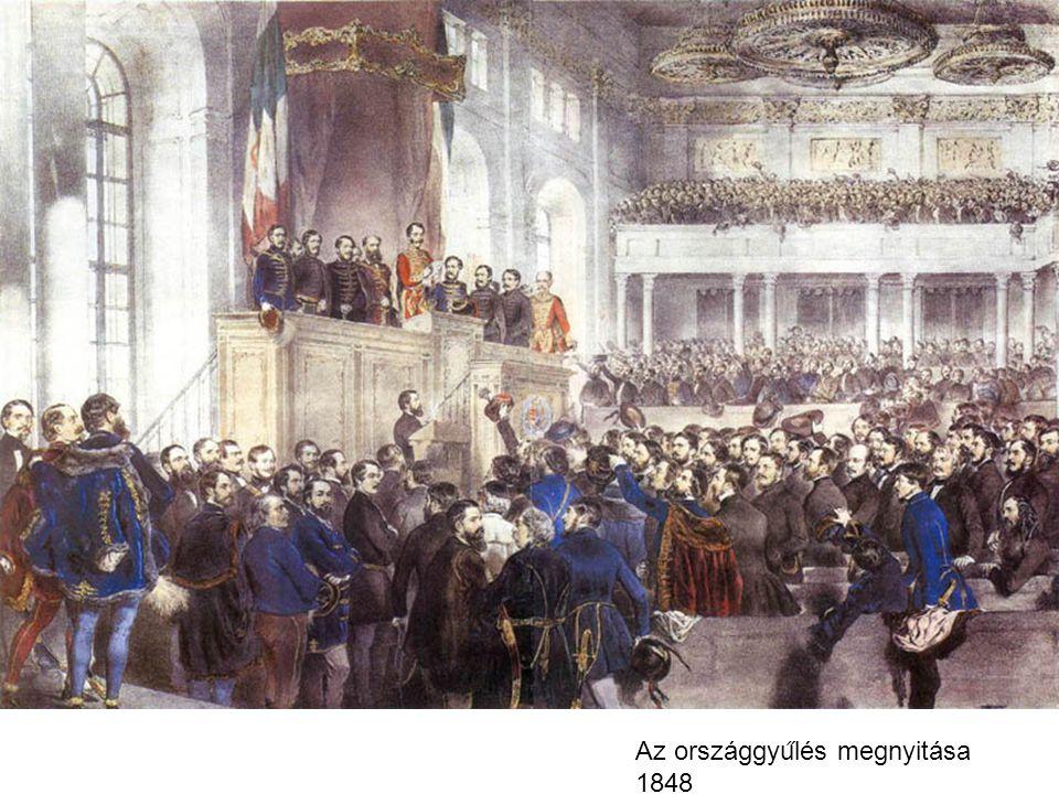 Az országgyu ̋ lés megnyitása 1848
