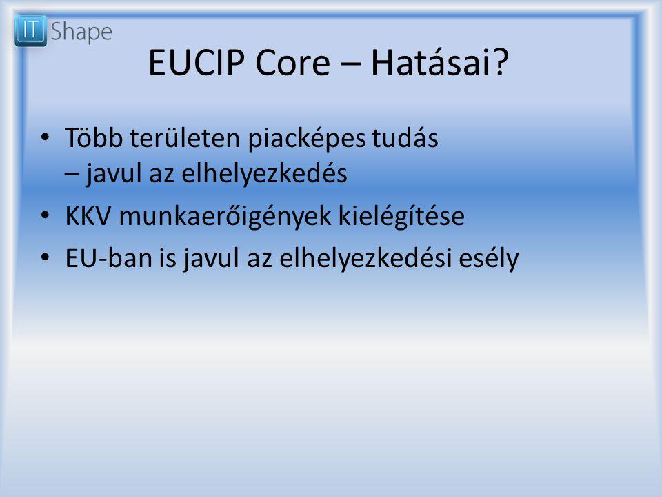 EUCIP Core – Hatásai.